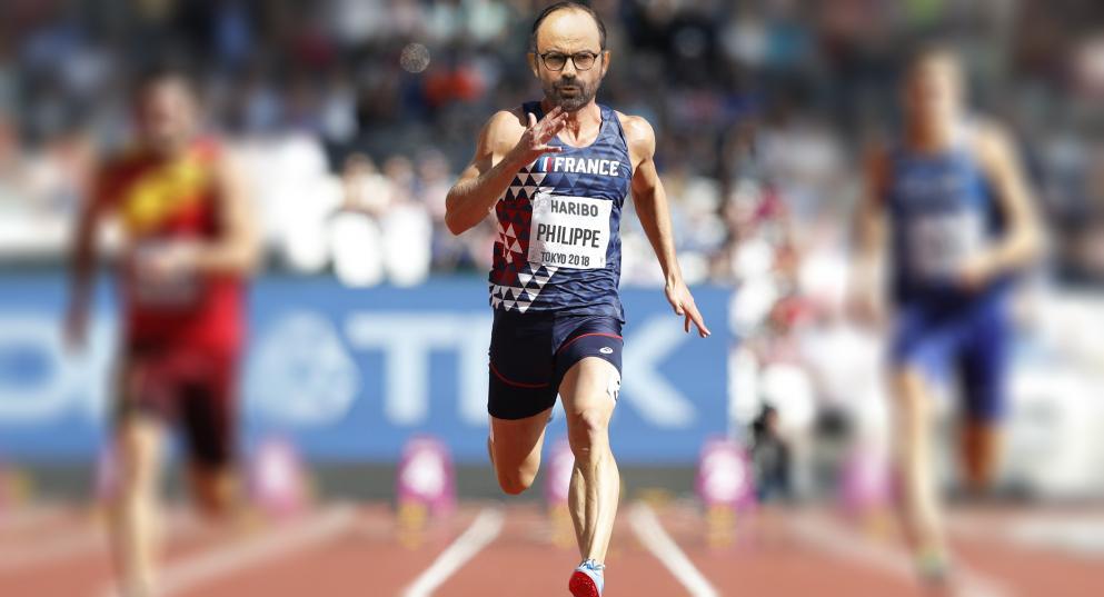 Edouard Philippe en sprinter