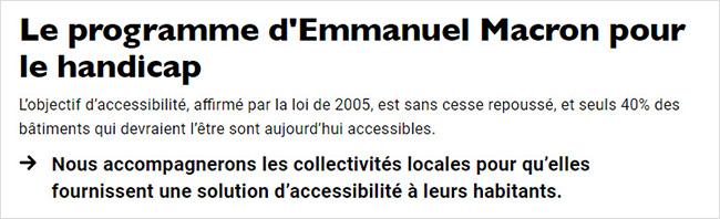 Macron handicap 2017